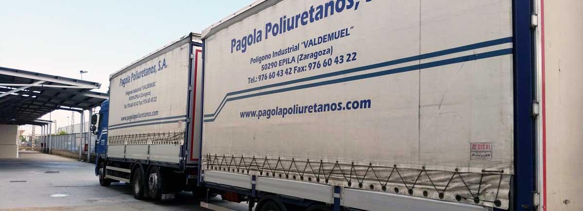 Pagola Poliuretanos distribuye sus productos en toda España y a nivel internacional