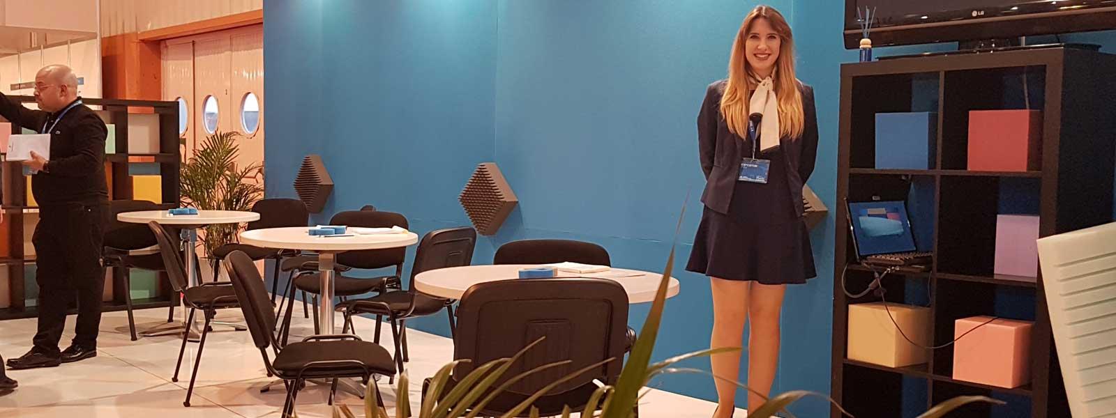 Stand de Pagola Poliuretanos en la Sexta Feria del Mueble de Zaragoza